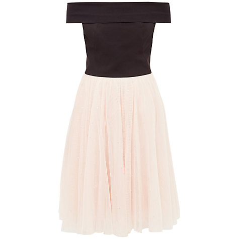 Buy Ted Baker Prinsie Bardot Tutu Dress, Black Online at johnlewis.com