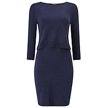 Buy Phase Eight Darina Double Layer Dress, Navy Online at johnlewis.com