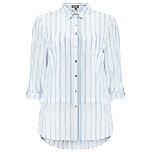 Buy Phase Eight Verity Stripe Shirt, White/Blue Online at johnlewis.com