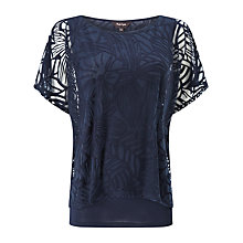 Buy Phase Eight Cecily Double Layer Burnout Top Online at johnlewis.com