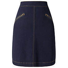 Buy Phase Eight Florrie Zip Denim Skirt, Indigo Online at johnlewis.com