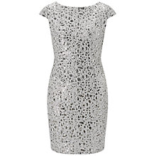 Buy Adrianna Papell Petite Sequin Chemical Lace Shift Dress, Silver Online at johnlewis.com