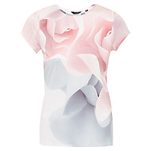 Buy Ted Baker Ciaa Porcelain Rose Fitted T-Shirt, Nude Pink Online at johnlewis.com