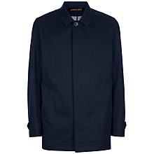 Buy Jaeger Bonded Cotton Mac, Navy Online at johnlewis.com