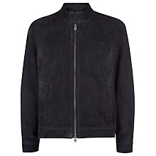 Buy Jaeger Suede Jacket, Navy Online at johnlewis.com