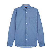 Buy Jaeger Micro Spot Chambray Shirt, Blue Online at johnlewis.com