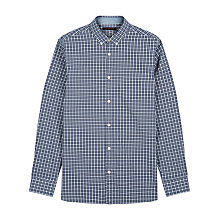 Buy Jaeger Melange Check Shirt, Navy Online at johnlewis.com