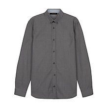 Buy Jaeger Mouline Poplin Shirt, Grey Online at johnlewis.com