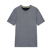 Buy Jaeger Salt and Pepper T-Shirt, Navy Online at johnlewis.com