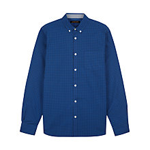 Buy Jaeger Gingham Shirt, Blue Online at johnlewis.com