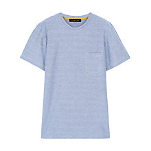 Buy Jaeger Herringbone T-Shirt, Blue Online at johnlewis.com