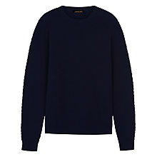 Buy Jaeger Herringbone Jumper, Navy Online at johnlewis.com