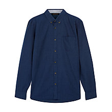 Buy Jaeger Pinstripe Pocket Shirt, Navy Online at johnlewis.com