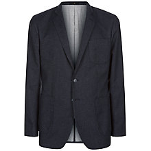 Buy Jaeger Puppytooth Slim Fit Blazer, Charcoal Online at johnlewis.com