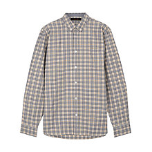 Buy Jaeger Mouline Poplin Shirt, Mustard Online at johnlewis.com