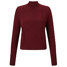 Buy Barbour Heritage Droplet Cropped Jumper, Merlot Online at johnlewis.com