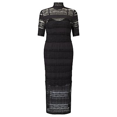 Baum und Pferdgarten Elbertine High Neck Lace Dress, Black