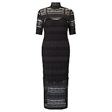 Buy Baum und Pferdgarten Elbertine High Neck Lace Dress, Black Online at johnlewis.com
