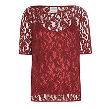 Buy Baum und Pferdgarten Marlee Lace Top, Syrah Online at johnlewis.com