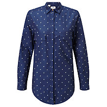 Buy Barbour Heritage Raindrop Shirt, Indigo Online at johnlewis.com