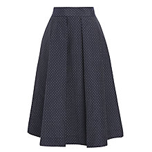 Buy Baum und Pferdgarten Sashenka Full Pleat Skirt, Jacquard Dots Online at johnlewis.com