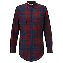 Buy Barbour Heritage Highland Check Shirt, Merlot Online at johnlewis.com
