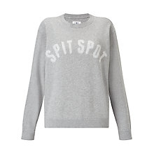 Buy Barbour Heritage Spit Spot Sweatshirt, Grey Marl Online at johnlewis.com