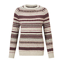 Buy Barbour Heritage Felted Fair Isle Jumper, Grey Marl Online at johnlewis.com