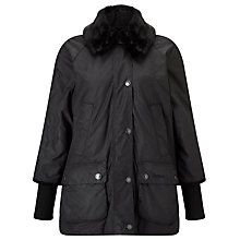 Buy Barbour Heritage Snow Bedale Waxed Jacket, Black Online at johnlewis.com