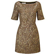 Buy Baum und Pferdgarten Alexandra Floral Jacquard Dress, Gold Milan Online at johnlewis.com