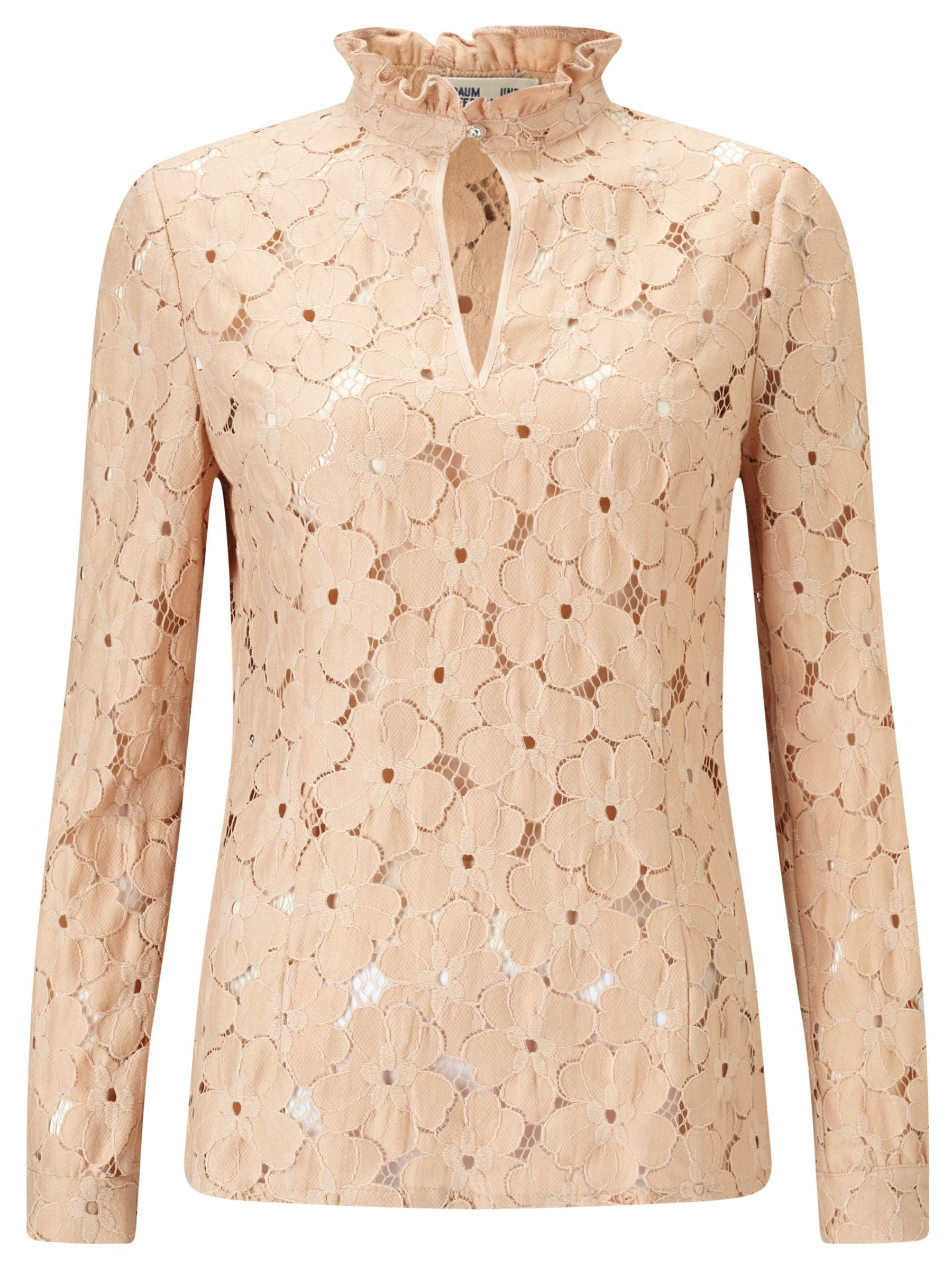 Baum und Pferdgarten Baum und Pferdgarten Marvella Floral Lace Blouse, Rugby Tan