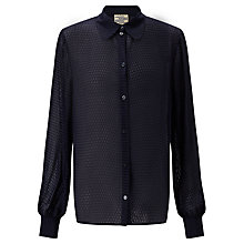 Buy Baum und Pferdgarten Maliha Silk-Blend Shirt, Night Sky Online at johnlewis.com