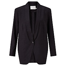Buy Minimum Stenja Linen-Blend Blazer, Black Online at johnlewis.com