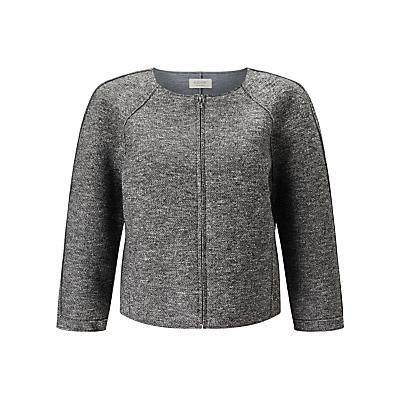 Numph Aurene Boxy Jacket, Grey Melange