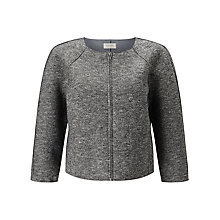 Buy Numph Aurene Boxy Jacket, Grey Melange Online at johnlewis.com