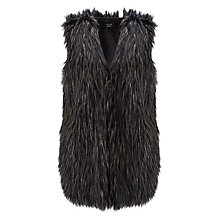 Buy Numph Emira Faux Fur Gilet, Blue Online at johnlewis.com