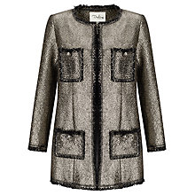 Buy Darling London Dulcie Coat, Metallic Silver Online at johnlewis.com