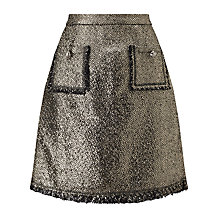 Buy Darling London Dulcie Skirt, Metallic Silver Online at johnlewis.com