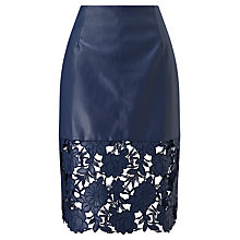 Buy Darling London Suki Fitted Skirt, Navy Online at johnlewis.com