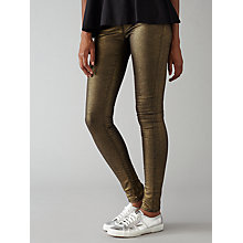 Buy Waven Freya Skinny Ankle Grazer Jeans, Washed Gold Online at johnlewis.com