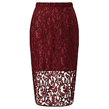 Buy Baum und Pferdgarten Selene Lace Skirt, Syrah Online at johnlewis.com