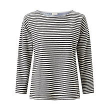 Buy Numph Marsila Stripe Jersey Top, Caviar Online at johnlewis.com