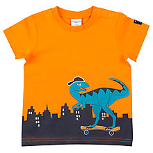 Buy Polarn O. Pyret Baby Skate Dino Top, Orange Online at johnlewis.com