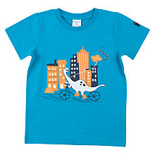 Buy Polarn O. Pyret Children's Bike Dino T-Shirt, Blue Online at johnlewis.com