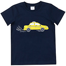 Buy Polarn O. Pyret Boys' Taxi Top, Blue Online at johnlewis.com