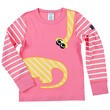 Buy Polarn O. Pyret Girls' Dino Top, Pink Online at johnlewis.com