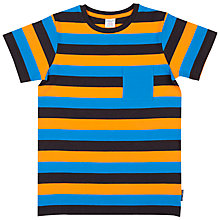 Buy Polarn O. Pyret Boys' Striped Block Top, Multi Online at johnlewis.com