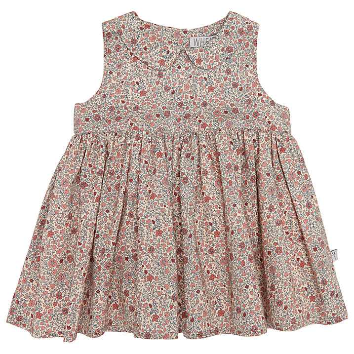 Buy Wheat Baby Eila Print Dress, Natural, 18 months Online at johnlewis.com