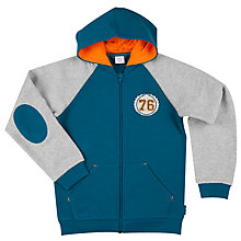 Buy Polarn O. Pyret Boys' Two Tone Hoodie, Blue Online at johnlewis.com