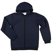 Buy Polarn O. Pyret Boys' Plain Hoodie, Blue Online at johnlewis.com